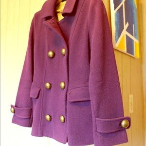 Purple wool Boden jacket